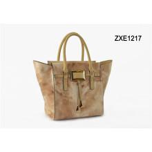 2015 Wholesale Handbag China, Ladies Big Shoulder Bag, Italian Leather Handbag Zxe1217