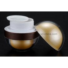 OEM Golden Acrylic Global Cream Cosmetic Jar with Vibration Massage