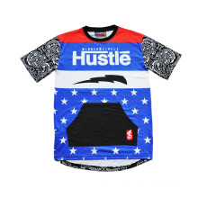 Street Culture Hip Hop estilo camiseta de baloncesto Jersey con diseño (T5051)