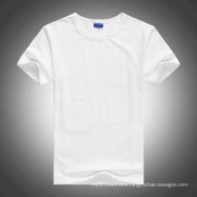 White O-Neck Short-Sleeve Blank Cotton T-Shirt for Heat transfer