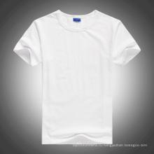 Белый O-шея чистый хлопок футболка для передачи тепла