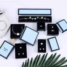 Blue Box Black Frame Kraft Paper Jewelry Packaging