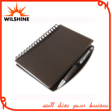 A6 PP Cover Stationery Spiral Notebook with Plastic Pen (PPN221B)