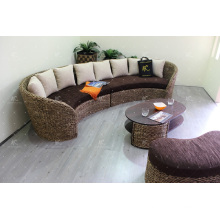 Glamorous Sofa Set Weaved Of Natural Material - Water Hyacinth Wicker For Indoor Use