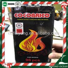 1 kg pack natural coco cubo fixo shisha carvão para narguilé