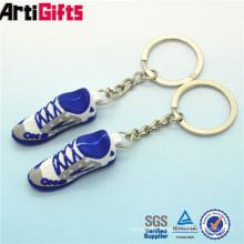 Wholesale plastic flat shoes rubber key ring