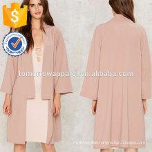 Pink Cardigan Coat OEM/ODM Manufacture Wholesale Fashion Women Apparel (TA7007J)