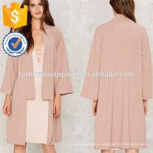 Розовый кардиган пальто OEM/ODM в производство Оптовая продажа женской одежды (TA7007J)