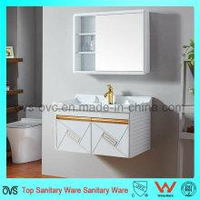Gabinete de pared de gabinete de baño de aluminio nuevo con espejo con lavabo