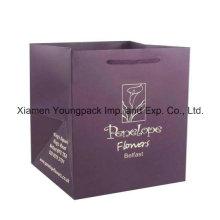 Custom Printed Luxury Matt Gift Paper Flower Bag