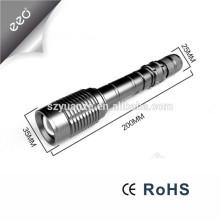 10W T6 LED 18650 Bateria Ultra Bright mais poderosa de alumínio recarregável lanterna LED Torch
