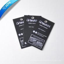 Étiquette volante Profession Black Papercard avec logo blanc imprimé en soie