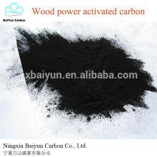 Carvão activado baseado em madeira Carbonato ativado em pó