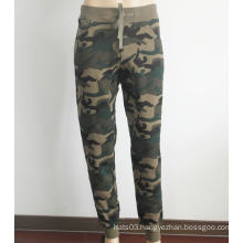 Cotton Skinny Pants Camouflage Sports Pants
