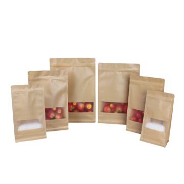 Side Gusset Kraft Packaging Bag With Zipper