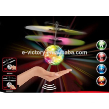 Infrared inductive flying ball with colorful light inside