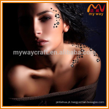Hot-selling personalizado corpo adesivo tatuagem temporária com diamante GEM para decoração de festa