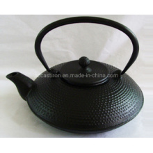 Chinese Printed Enamel Embossed Cast Iron Teapot with Filter