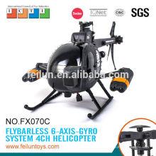 Прохладном вертолета fx070c большой 2.4g 4ch бесфлайбарной системы дистанционного управления вертолет с гироскопом для продажи сертификат CE/ROHS/FCC/ASTM