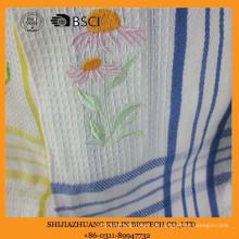 Baumwolle personalisierte bestickte Sonnenblume Waffelpikee Küchentuch mit Haken