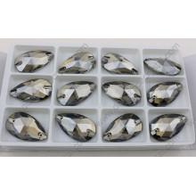 ДЗ-3065 декоративные плоские задней формы капли Золотой оттенок шить на камнях для платья