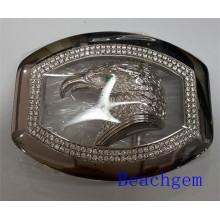 Zodiaco chino gallo hebilla de plata para hombre (B1023)