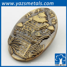 Custom 3D lapel pin with antique plating