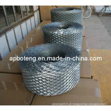 Galvanizado expandido malha usada na construção