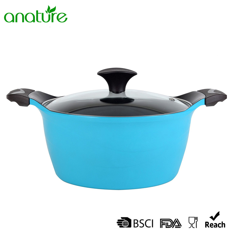 Blue Die-cast Non-stick Aluminum Dutch Oven