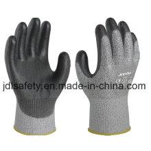 Couper les gants de travail résistant en polyuréthane à pendage (PD8024)