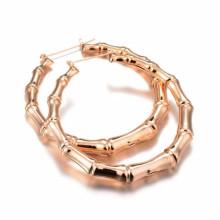 Нестандартная конструкция дешевые образцы кольца бамбука позолоченные серьги ювелирных изделий