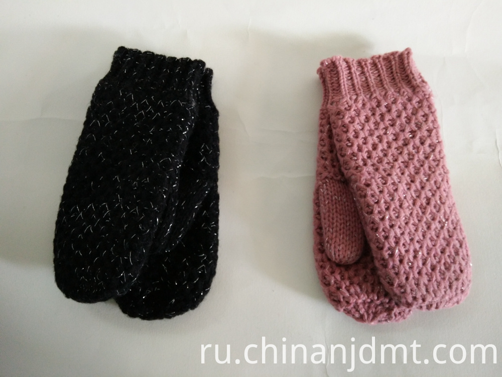 Plastic Flower Warm Mittens