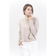 Women′s Fashion Pure Color Cashmere Pullover