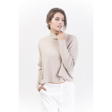 Women′s Fashion Pure Color Cashmere Pullover