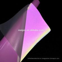 Papel de transferencia de calor de alta visibilidad Material de película reflectante colorido personalizado de China (Corte e impresión)