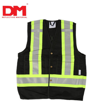 wholesale custom logo ansi road reflective orange high visibility safety vest