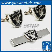 Cufflinks y juego de regalo de la barra de corbata, clip de sujetador de metal a medida con diseño