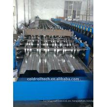 Máquina de fabricación de cubierta de piso de metal