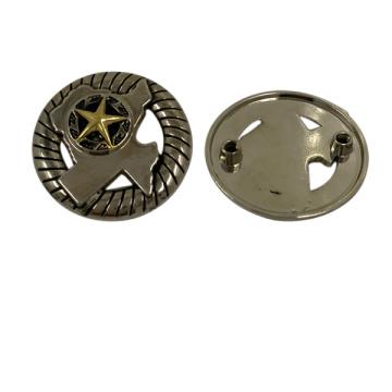 Bolsas promocionales personalizadas redondo placa del logotipo del metal