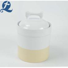 Hochwertiger Vorratsbehälter für Hundefutter aus Keramik