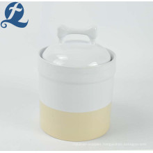 2019 China high quality ceramic product pet dog food storage tank