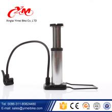 Mini portable aluminum alloy bicycle air pump / OEM cheap bike pump / bike pump with pressure gauge