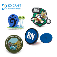 China manufacturers custom 3d logo color filled fancy rubber soft pvc lapel pin for promotion