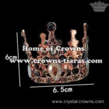 Crown Shaped Pendant With Black Diamond