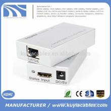Adaptateur de convertisseur unique HDMI Extender RJ45 CAT5 / 6 Full 1080P 3D