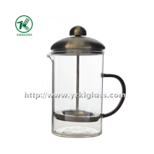Glass Teapot with Stainless Steel (8.5*11.5*18)