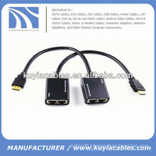 HDMI Extender by Cat5e/Cat6 cable (HDMI ver 1.3 supported) up to 30m/100ft