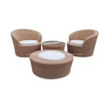 Открытый PE плетеное кресло Ницца удобный диван