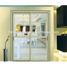 Portes coulissantes en verre en aluminium à l'intérieur de style français pour vente