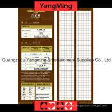 Baccarat Result Paper Casino Table (YM-BP01)